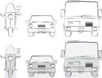 Croquis originaux de véhicules Photographie stock
