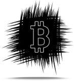 Croquis tiré par la main de Bitcoin Photos stock