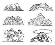 Croquis tiré par la main de vecteur d'illustration abstraite de montagne sur le fond blanc illustration de vecteur