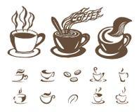 Croquis tiré par la main de vecteur d'illustration de café sur le fond blanc illustration stock
