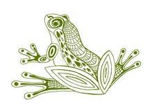 Croquis tiré par la main de vecteur d'illustration de grenouille sur le fond blanc illustration libre de droits