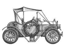 R tro voiture de course sur un fond blanc croquis illustration stock illustration du isolement - Croquis voiture ...