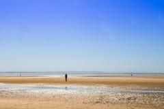 Crosby Beach near Liverpool, UK, Royalty Free Stock Photo