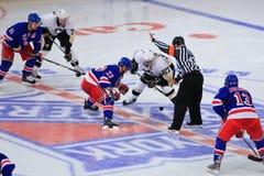 Crosby gegen Drury Lizenzfreies Stockbild