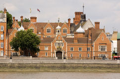 Crosby Hall, Chelsea. The landmark Crosby Hall overlooking the banks of the River Thames in Chelsea, London.  With parts of the building dating to the 15th Royalty Free Stock Photography