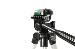 Crose up detial of head  mini tripod. On white background Royalty Free Stock Image