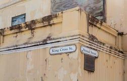 Cross国王和在圣Croix的子线街道 免版税库存照片