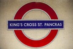 Cross圣Pancras国王地铁站在伦敦 图库摄影
