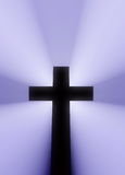 Cross. Sziluet fats illumination light volume royalty free stock image