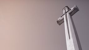 Cross. Christianity cross and sky background Royalty Free Stock Photography