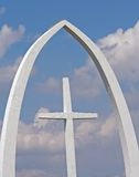 The Cross. Cross under a tall archway royalty free stock images