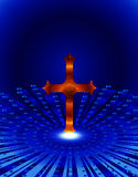Cross. Illustration based image of a religious cross Stock Image