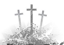 Cross. Abstract golgotha with three cross Stock Image