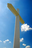 Cross. Giant white cross in a sunny day Royalty Free Stock Images