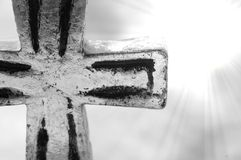 Cross. Close up of cross with light royalty free stock photo