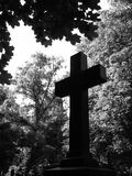 Cross. In the woods Stock Photos