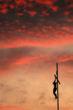 Cross Silhouette and Amazing Red Sky Royalty Free Stock Photos