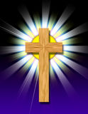 The Cross. An iconic image of a religious wooden cross Stock Photography