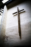 The Cross. Old Wooden Cross from Taos, NM Royalty Free Stock Images