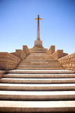 Cross. A commonwealth cemetery memorial outside of Tobruk, Libya from The World War II Royalty Free Stock Photo
