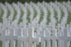 Cross. World War two Manila American Cemetery and Memorial, Philippines Stock Photography