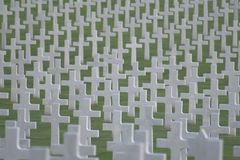 Cross. World War two Manila American Cemetery and Memorial, Philippines Royalty Free Stock Photography