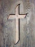 Cross. In wood, Sighisoara, Romania Stock Photos