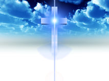 The Cross 24. A religious cross with some added illumination, the image is suitable for religious concepts Royalty Free Stock Photography