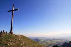The cross. The summit cross on mountain in allgäu in Bavaria (Germany Stock Photo