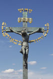 Cross. Jesus Christ on the cross sculpture Royalty Free Stock Images