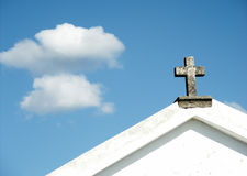 Cross. Detail of church Royalty Free Stock Images