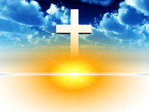 The Cross 26. A religious cross with some added illumination, the image is suitable for religious concepts Stock Image