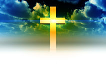 The Cross 27. A religious cross with some added illumination, the image is suitable for religious concepts Stock Photos
