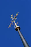 Cross. On a church in Gstaad, Switzerland royalty free stock photos