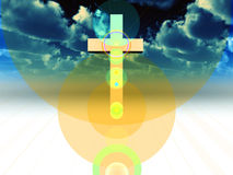 The Cross 28. A religious cross with some added illumination, the image is suitable for religious concepts Stock Images