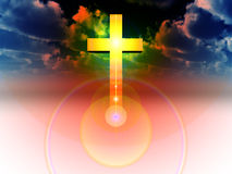 The Cross 29. A religious cross with some added illumination, the image is suitable for religious concepts Stock Photography