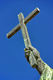 Cross. Christian cross over an sky background royalty free stock images