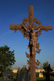 Cross. Rusty crucifix in cemetery Stock Images