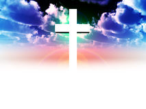 The Cross 31. A religious cross with some added illumination, the image is suitable for religious concepts Stock Image