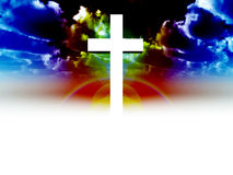 The Cross 32. A religious cross with some added illumination, the image is suitable for religious concepts Stock Images