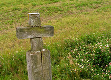 Cross. Old wooden cross royalty free stock photo