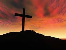 Cross. 3D Illustration. Symbol of Christianity Royalty Free Stock Photos
