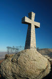 Cross. Christian Cross landmark in high mountain in Spain royalty free stock photos