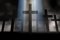 Cross. Holy cross 3d abstract religion concept Royalty Free Stock Photography