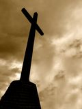 Cross. In sepia Stock Images