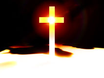 The Cross 47. A religious cross with some added illumination, the image is suitable for religious concepts Stock Images