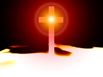 The Cross 47. A religious cross with some added illumination, the image is suitable for religious concepts Royalty Free Stock Image