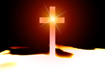 The Cross 48. A religious cross with some added illumination, the image is suitable for religious concepts Stock Images