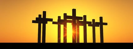 The Cross 5. This is a religious cross Stock Photography