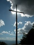Cross. And sky Royalty Free Stock Photography